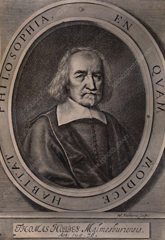 Thomas Hobbes, English philosopher, c1668