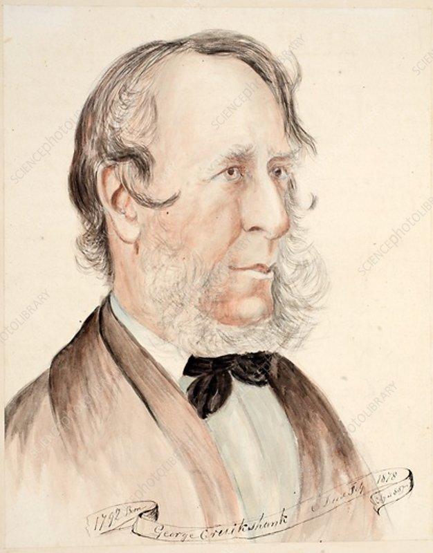 Portrait of George Cruikshank, Born 1792, Died 1878, 1878