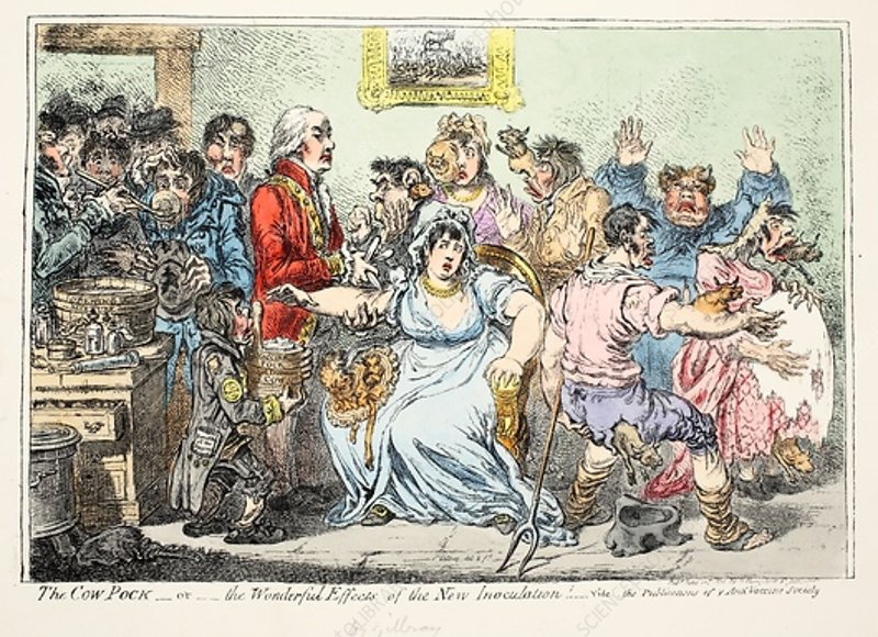 Wonderful Effects of the New Inoculation, 1809