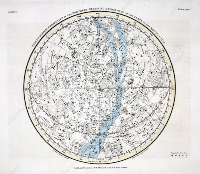 The Northern Hemisphere, 1822