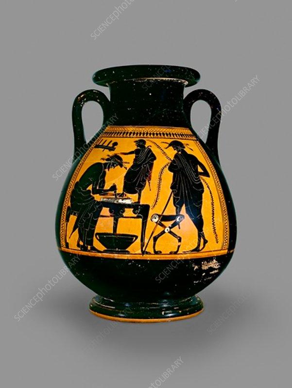 Attic black-figure pelike, 6th century BC-5th century BC