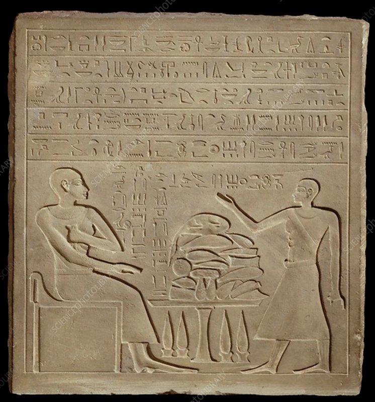 Stela of Imeny, New Kingdom c1540 BC-c1070 BC