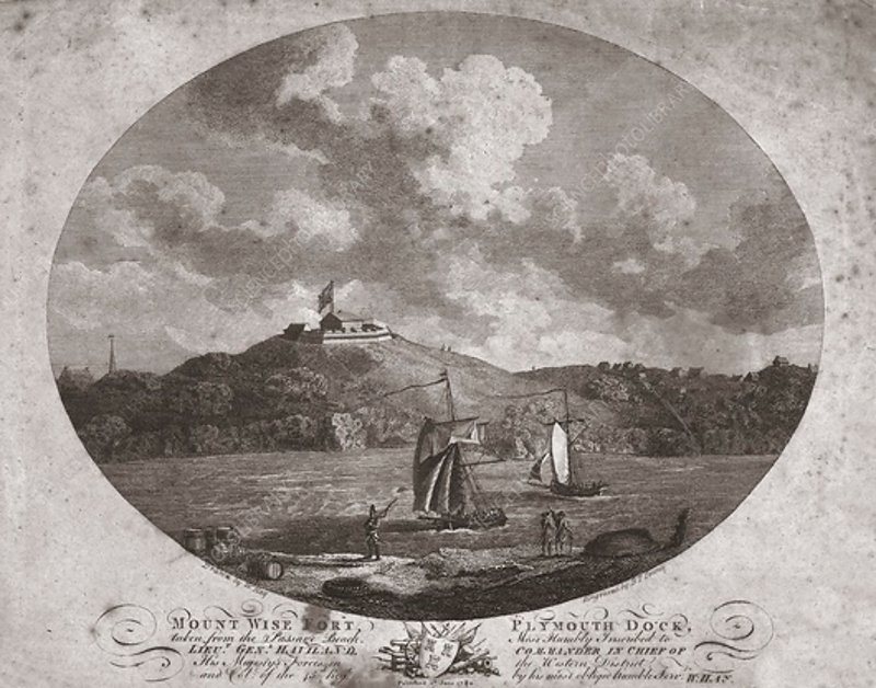 Mount Wise Fort, Plymouth Dock, 1780
