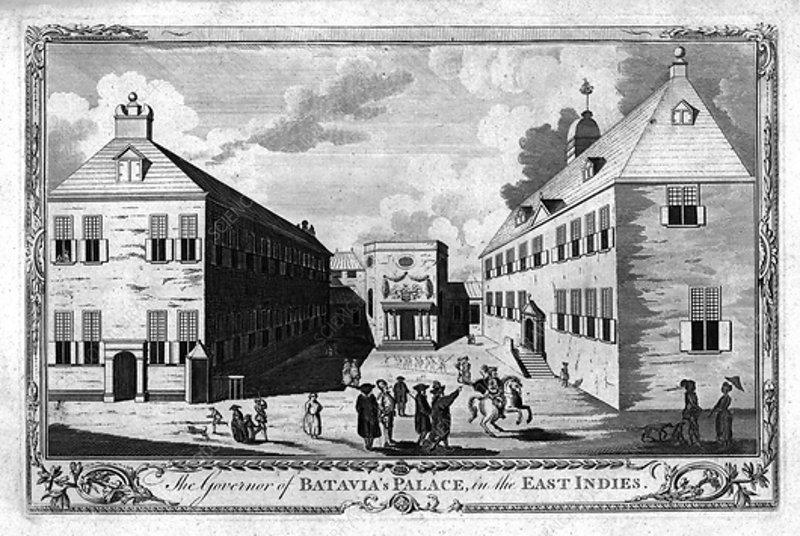 The Governor of Batavia's Palace, in the East Indies, c1750