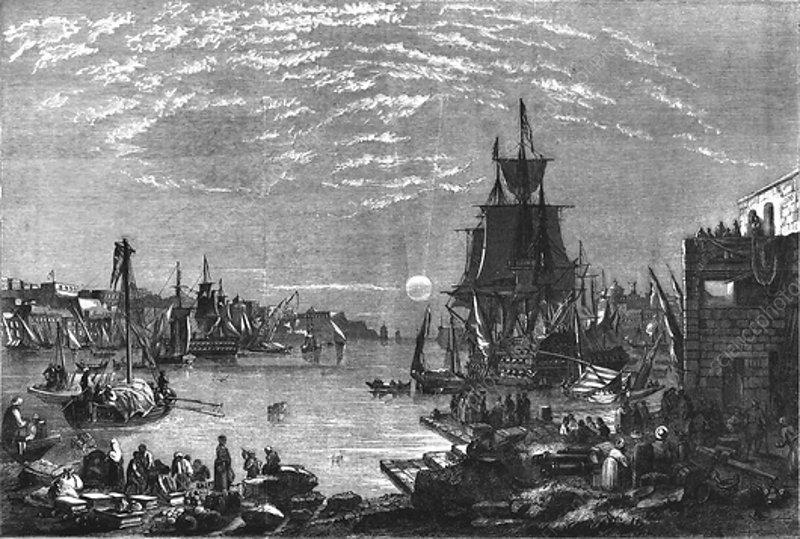 Valetta Harbour, Malta, c1856