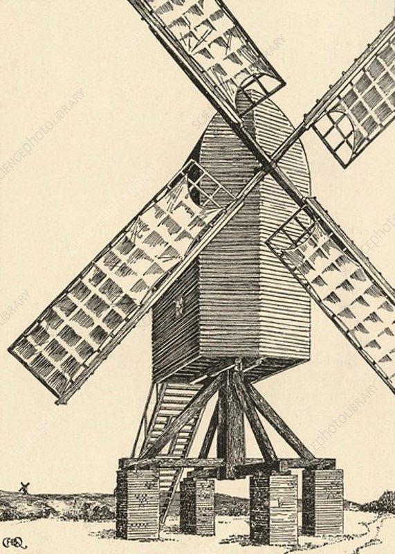 A Mediaeval Windmill, 1931