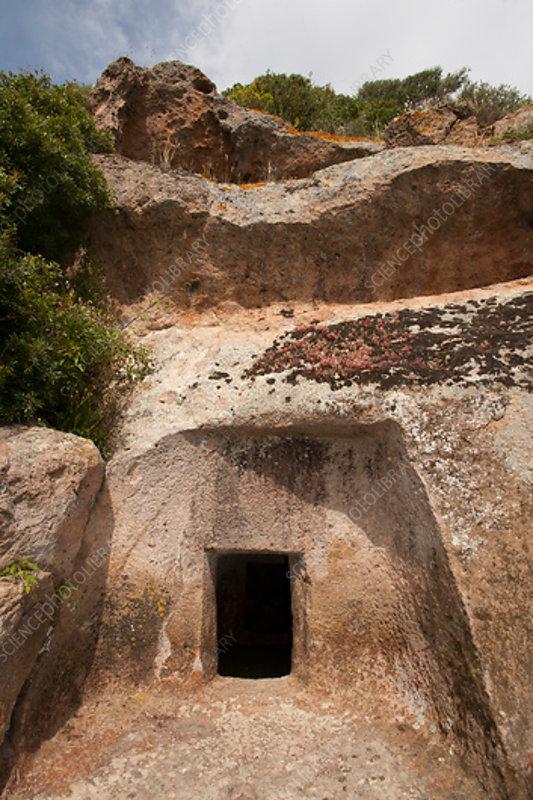 Chamber tomb, Necropolis of Montessu, Sardinia