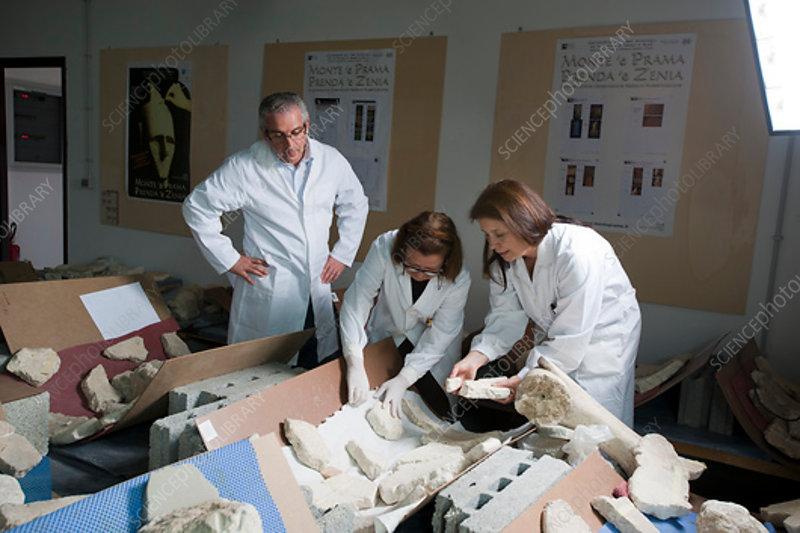 Restoration of prehistoric Sardinian statues