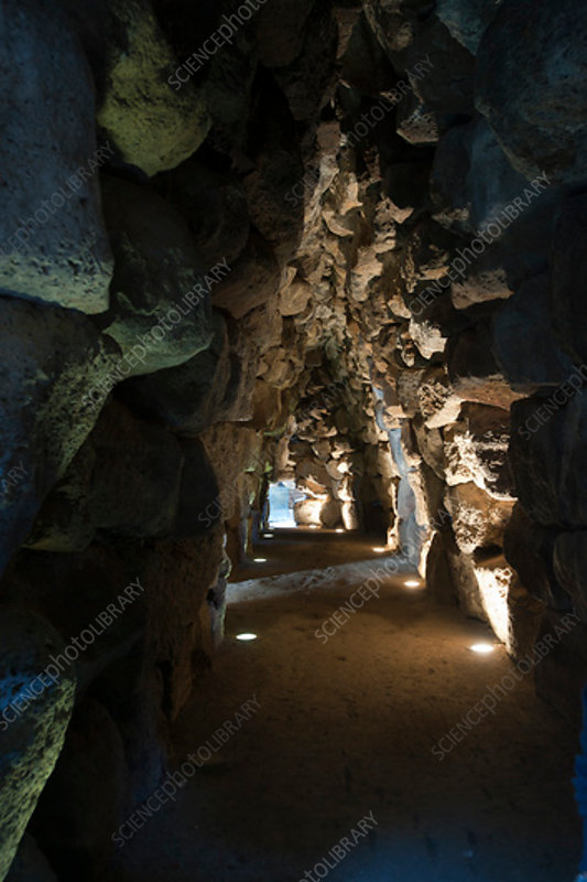 Nuraghe passageway, prehistoric Sardinian structure