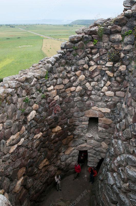 Nuraghe Su Nuraxi tower, prehistoric Sardinian structure