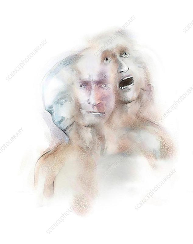 Mental illness, conceptual illustration
