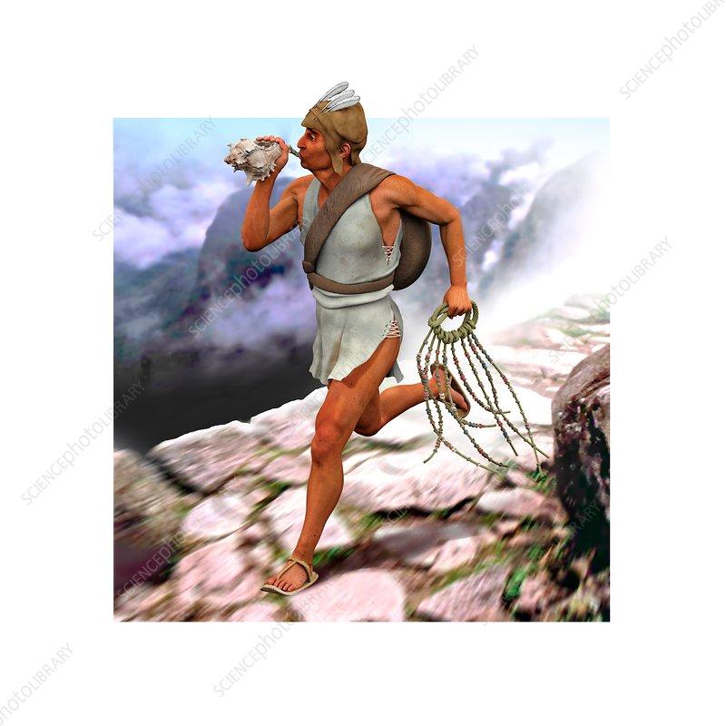 Inca messenger, illustration