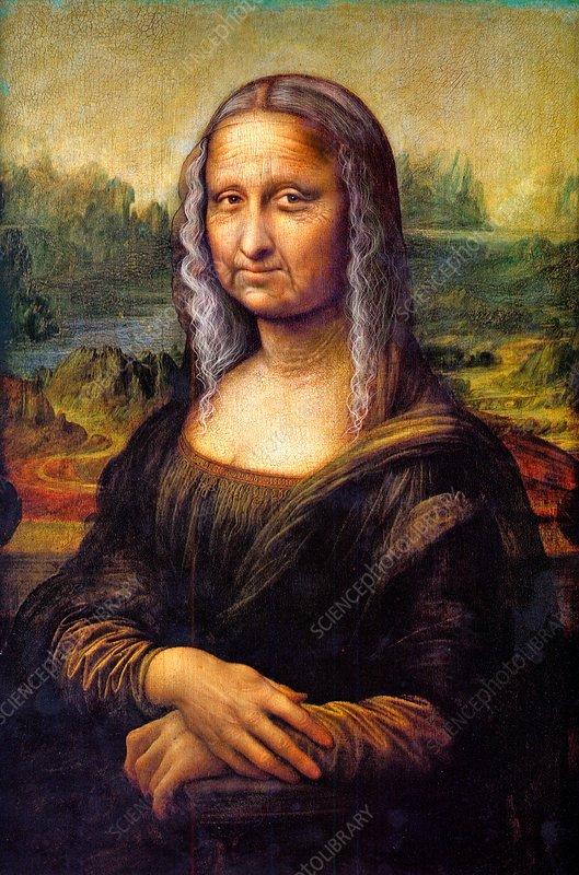 Ageing Mona Lisa, conceptual illustration