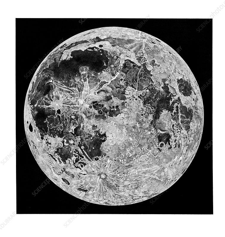 Full Moon by John Russell, 1800s