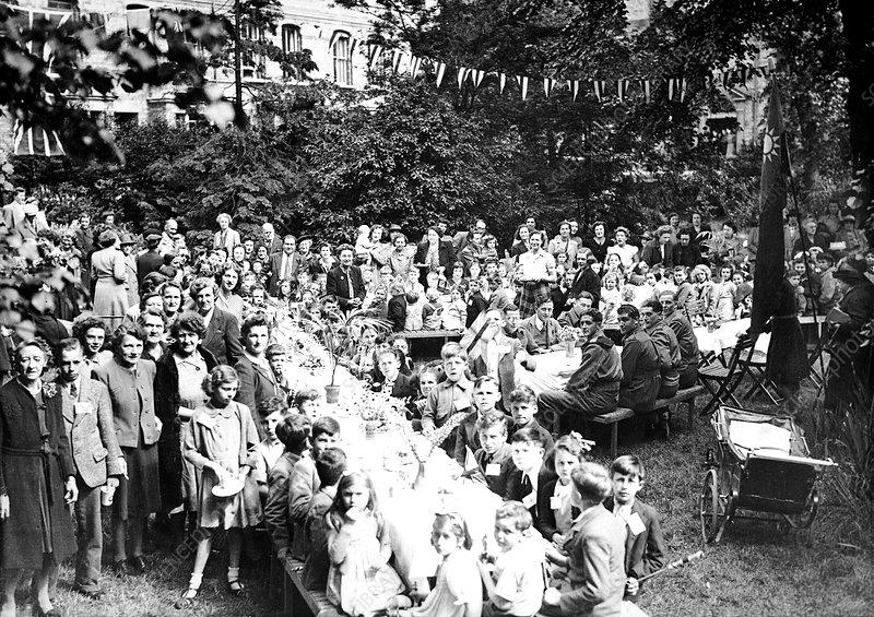VE Day celebration, Oxford, May 1945