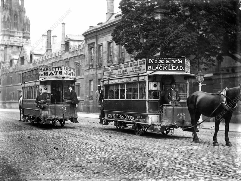 Horse-drawn trams in Oxford, 1900s