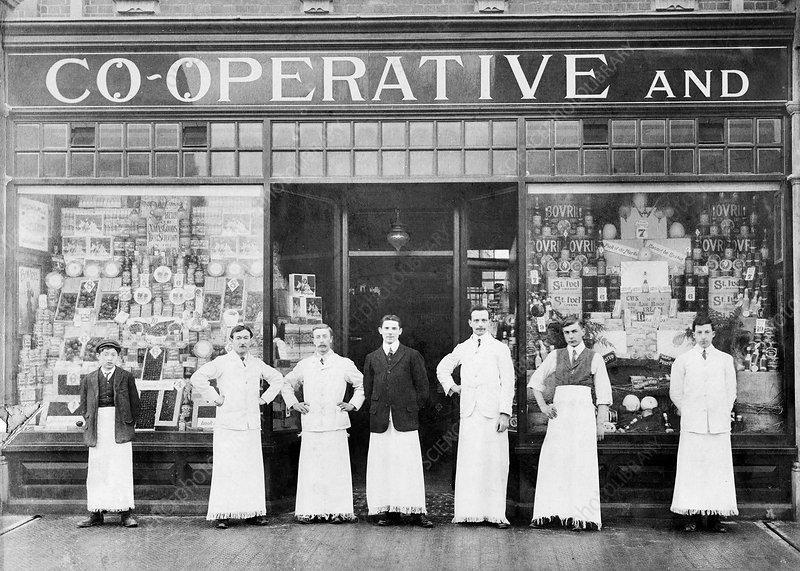 Co-operative shop, Cowley Road, Oxford, 1918