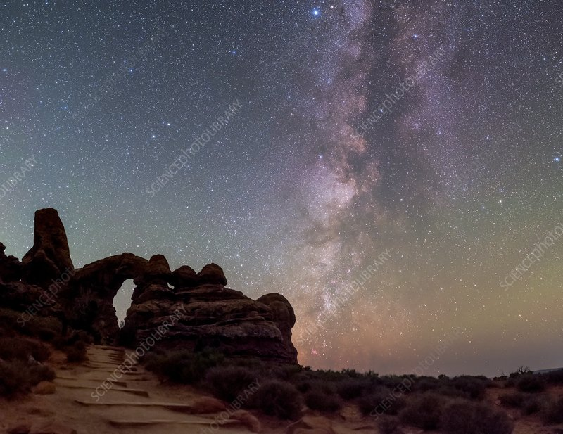 Milky Way over Arches National Park, USA
