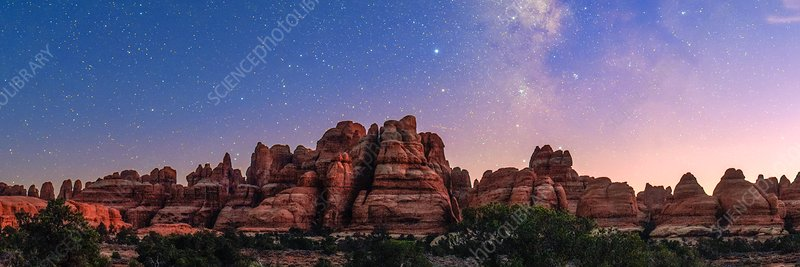 Milky Way over Canyonlands National Park, USA