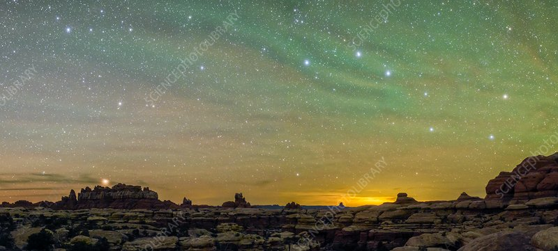 Night sky over Canyonlands National Park, USA