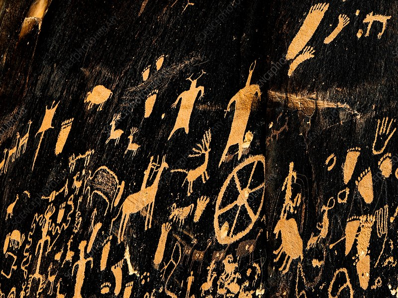 Newspaper Rock petroglyphs, USA