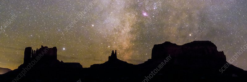 Milky Way over Monument Valley, USA