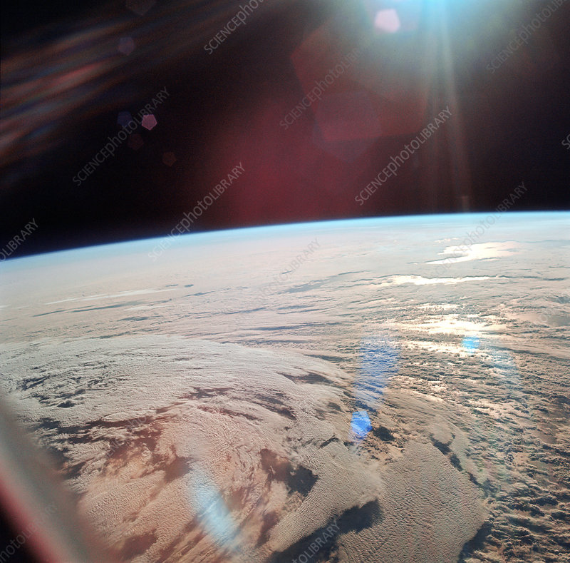 View of Earth from Apollo 11 spacecraft