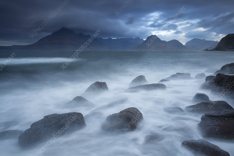 Cuillins Mountains from Elgol, Isle of Skye, Scotland, UK