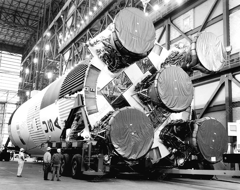 Apollo 11 Saturn V assembly, 1969
