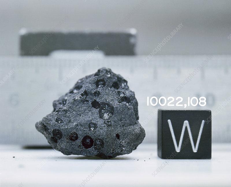 Apollo 11 moon rock sample