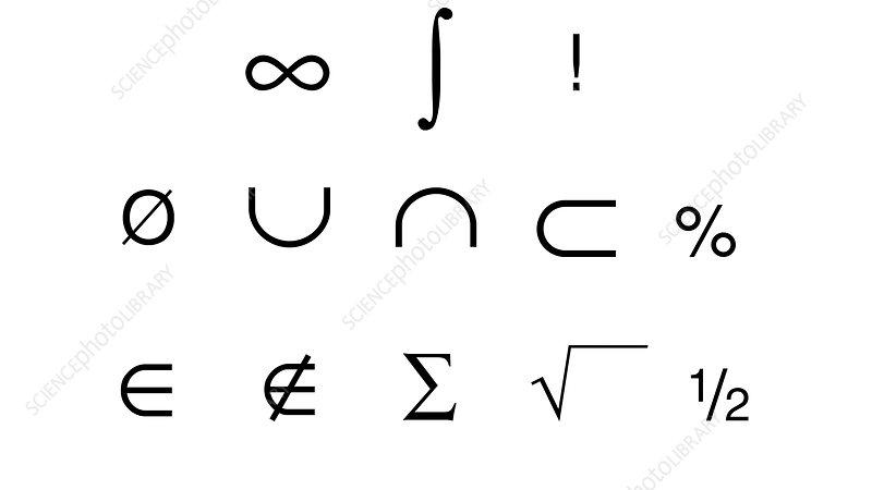 Mathematics symbol, Illustration