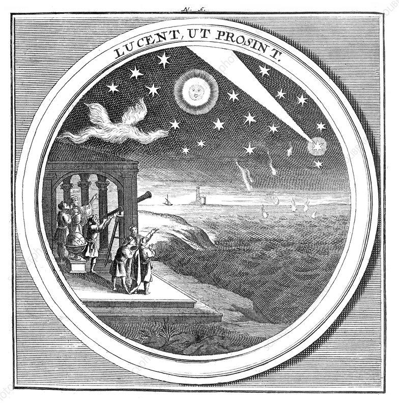 Meteorologia, Astronomers, 1709