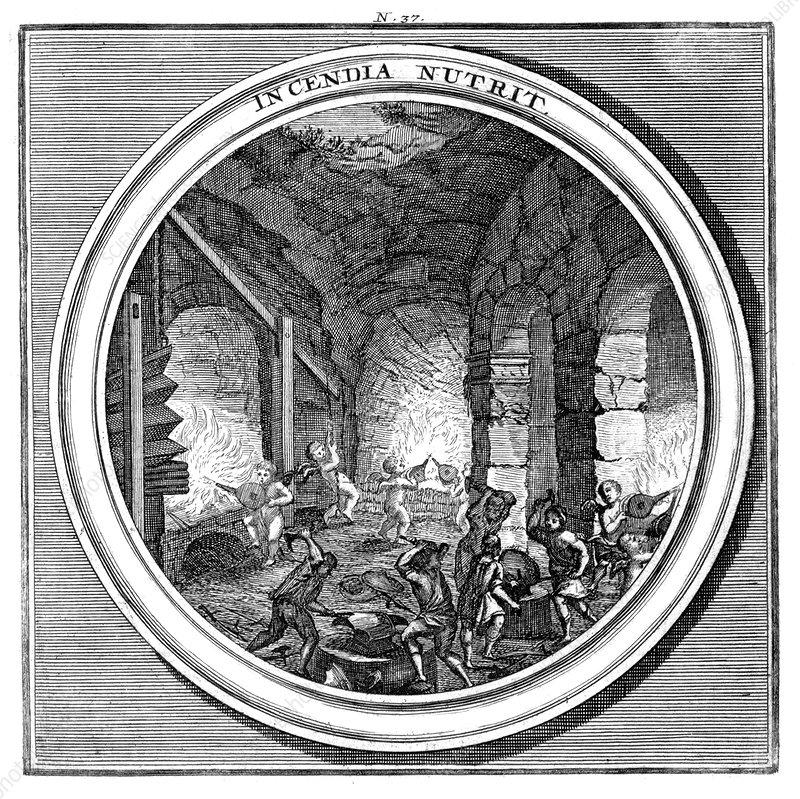 Meteorologia, Bellows and Blacksmiths, 1709