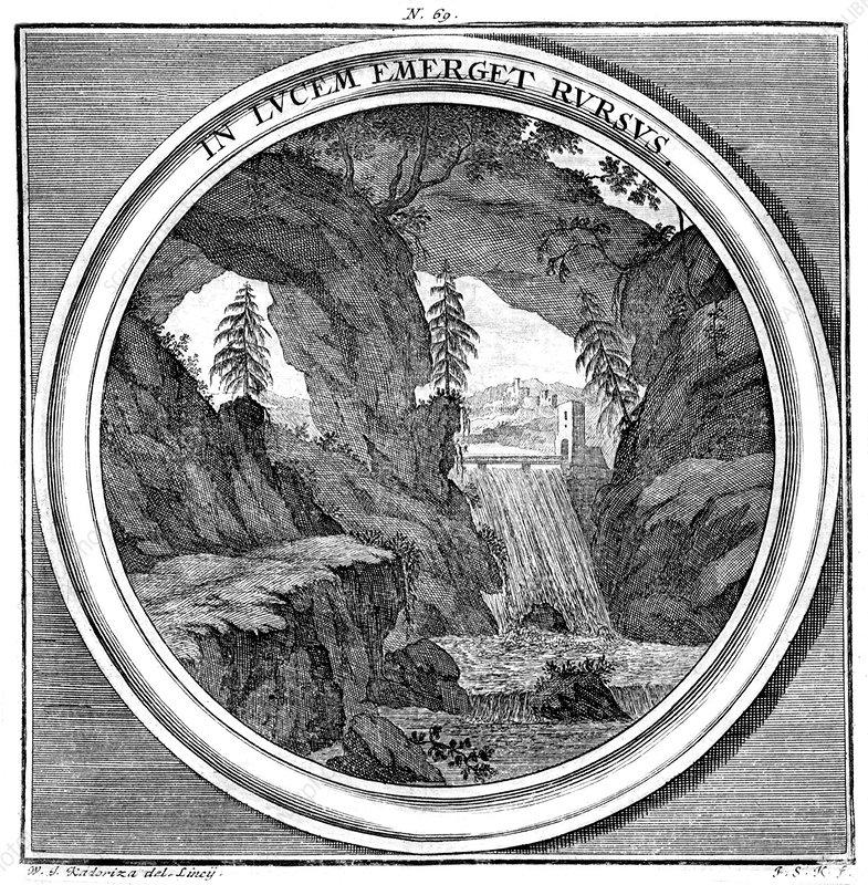 Meteorologia, Waterfall, 1709