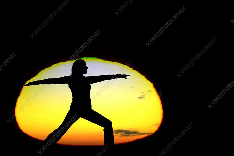 Yoga pose and Green Flash