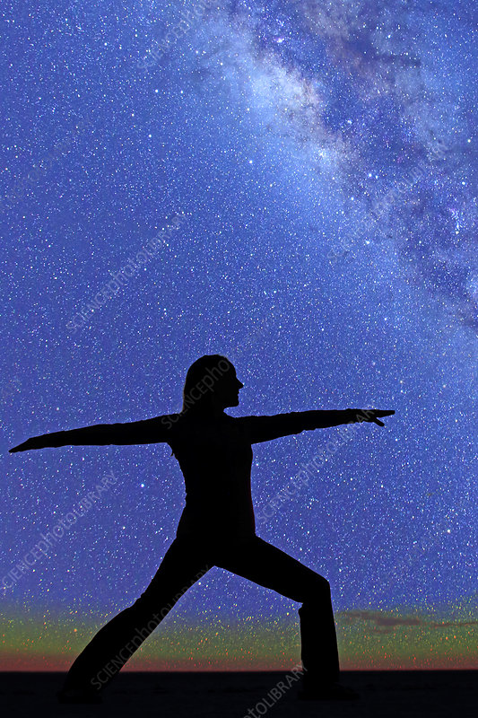 Yoga under the Milky Way