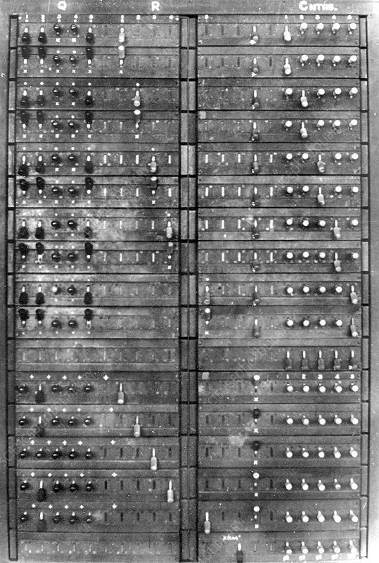 Colossus Showing Q Panel, 1945