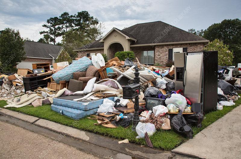 Damaged Home Due to Flood, Louisiana 2016