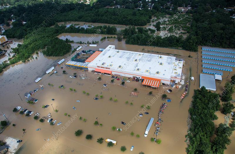 Flooded Home Depot, Louisiana, 2016