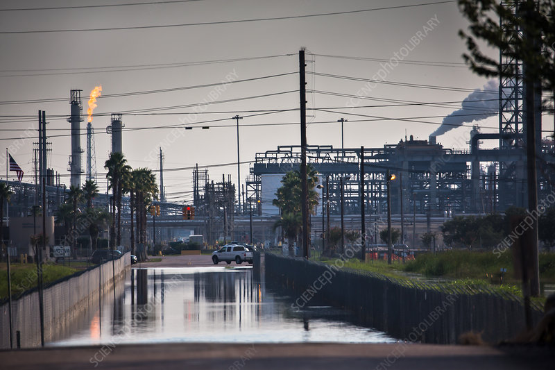 Refinery Flooded By Hurricane Harvey