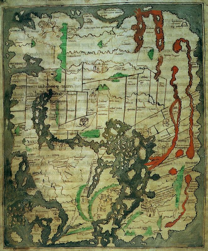 Anglo-Saxon Mappa Mundi, 11th Century
