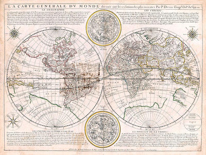 Nicolas Berey, World Map, 1661