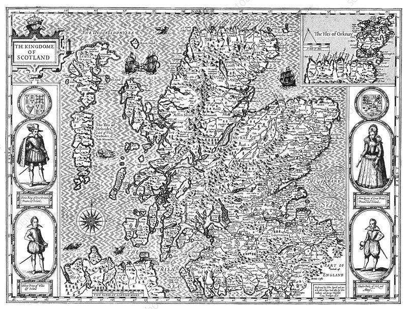 John Speed, Scotland Map, 1611