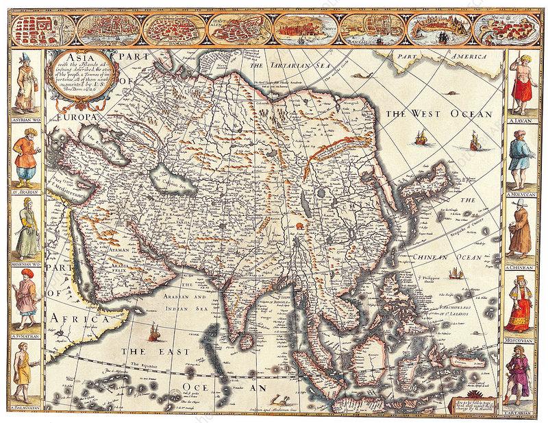 John Speed, Asia Map, 1626
