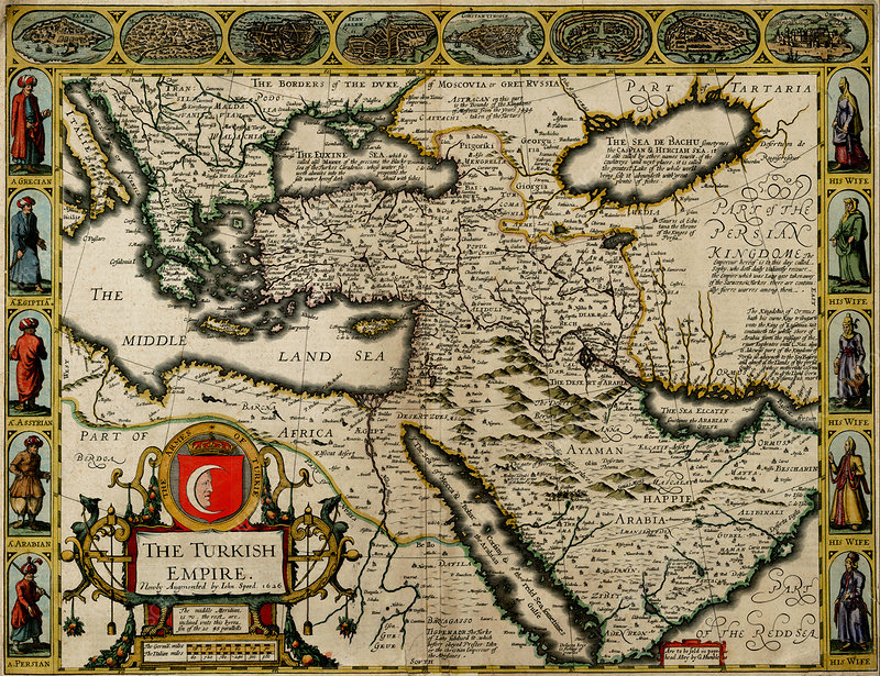 John Speed, Turkish Empire Map, 1626
