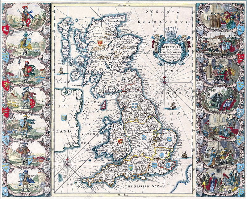 MAP OF WALES 1611 BY JOHN SPEED