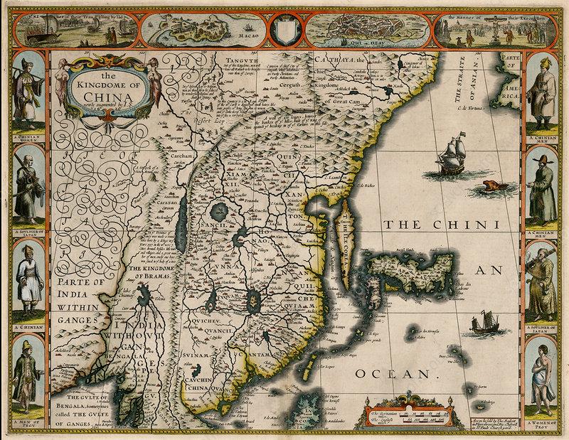 John Speed, Kingdom of China Map, 1626