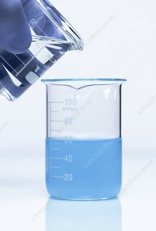 Ammonia reacts with copper sulfate, 1 of 3