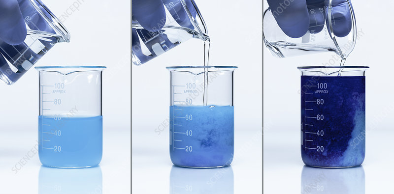 Ammonia reacts with copper sulfate