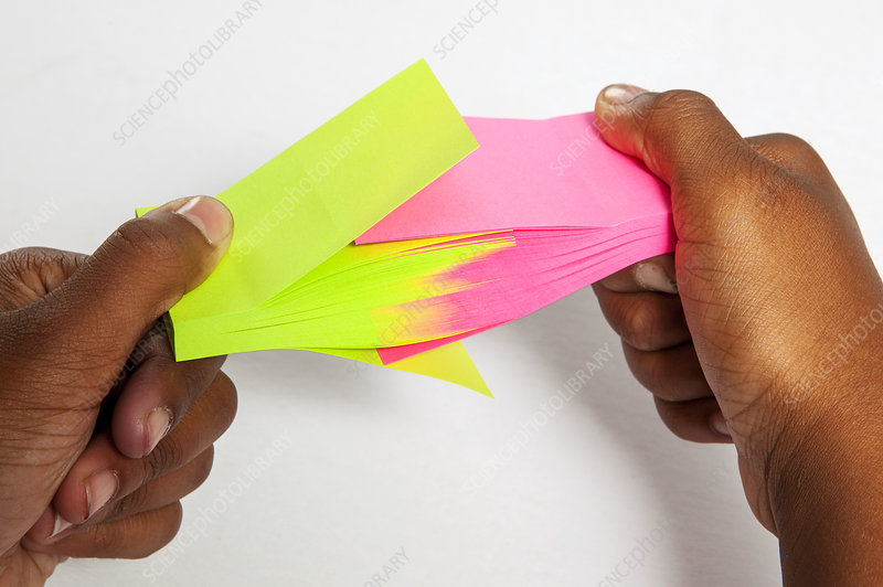 Two Post-it Pads Interleaved